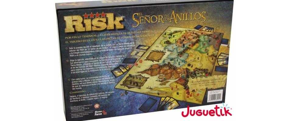 Caja Risk Señor de los anillos detrás